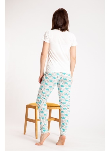 Pemilo Pijama Takım Beyaz